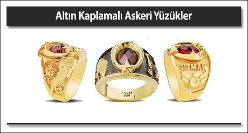 Altın Kaplamalı Askeri Yüzükler