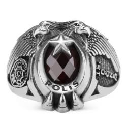Anı Yüzük - 15. Dönem Çift Kartal Başlı Polis Yüzüğü