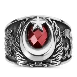 Anı Yüzük - 3 Hilal Bozkurt Tasarım Erkek Gümüş Yüzük