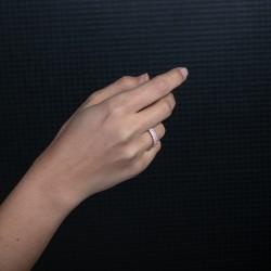 3 Sıra Taşlı Rose Kaplama Kadın Yüzük - Thumbnail