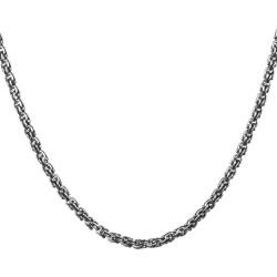 Anı Yüzük - 925 Ayar Gümüş Arnavut Model Erkek Zinciri