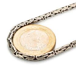 925 Ayar Gümüş Erkek Kral Zincir - Thumbnail