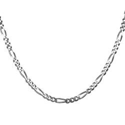 Anı Yüzük - 925 Ayar Gümüş Figaro Erkek Zinciri