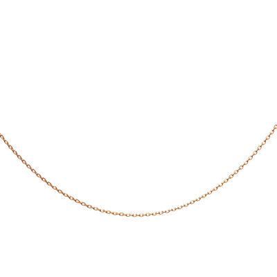 925 Ayar Gümüş Gold Renk Bayan Zinciri