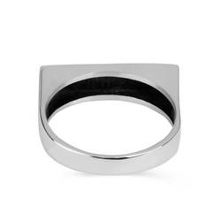 925 Ayar Gümüş Kişiye Özel Kabartma Yazılı Kadın Yüzüğü - Thumbnail
