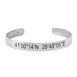 925 Ayar Gümüş Unutulmaz Konum Bilekliği - Thumbnail