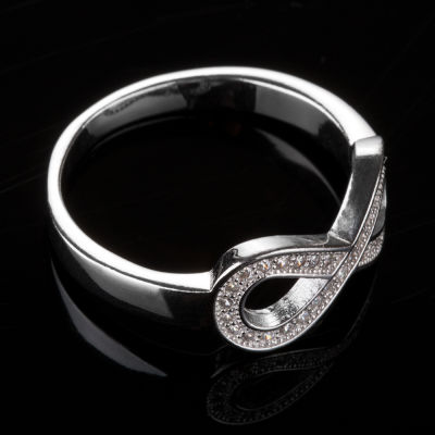 925 Ayar Gümüş Zirkon Taşlı Sonsuzluk Model Kadın Yüzüğü