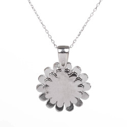 Açılabilir Kişiye Özel Papatya Kolye Gümüş Renk - Thumbnail