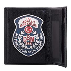Anı Yüzük - Denetimli Serbestlik Müdürlüğü (DSM) Rozetli Klasik Cüzdan Siyah