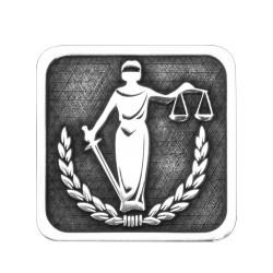 Adalet Heykeli Gümüş Kol Düğmesi - Thumbnail