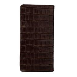 Anıtolia Style Kroko Deri Cep Telefonu Bölmeli Deri El Cüzdanı Kahverengi - Thumbnail