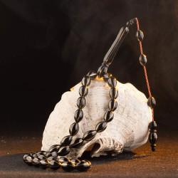 Arpa Kesim Karpuz Dilim Metal İşlemeli Kuka Tesbih - Thumbnail