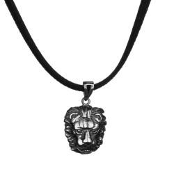 Anı Yüzük - Aslan Motifli Gümüş Erkek Kolye