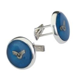 Anı Yüzük - Astsubay Amblemli Gümüş Kol Düğmesi