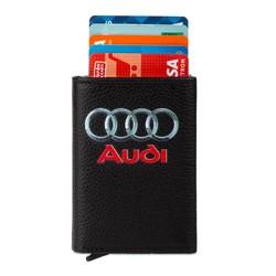 Anı Yüzük - Audi Logo Baskılı Otomatik Mekanizmalı Kartlık