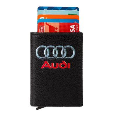 Audi Logo Baskılı Otomatik Mekanizmalı Kartlık