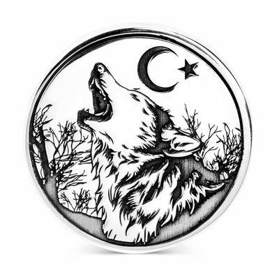 Ay Yıldız Bozkurt Gümüş Erkek Yüzük