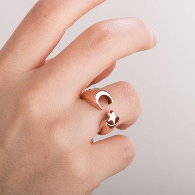 Ay-Yıldız Desenli İsimsizler Dizisi Yüzüğü (Küçük Boy)