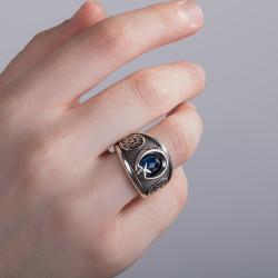 Ay Yıldızlı Özel Güvenlik Yüzüğü - Thumbnail