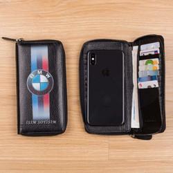 BMW Baskılı Erkek Deri Cüzdan - Thumbnail