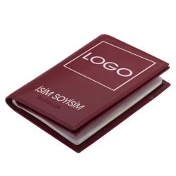 Bordo Güvenli Pasaportluk Deri Cüzdan