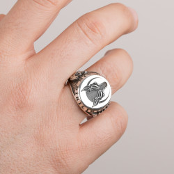 Börü Yüzüğü (Osmanlı Arması Selçuklu Kartalı) - Thumbnail
