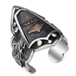Bozkurtlu Gümüş Zihgir Yüzük - Thumbnail