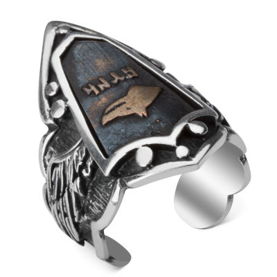 Bozkurtlu Gümüş Zihgir Yüzük