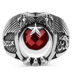 Anı Yüzük - Bozkurt Motifli Komando Yüzüğü