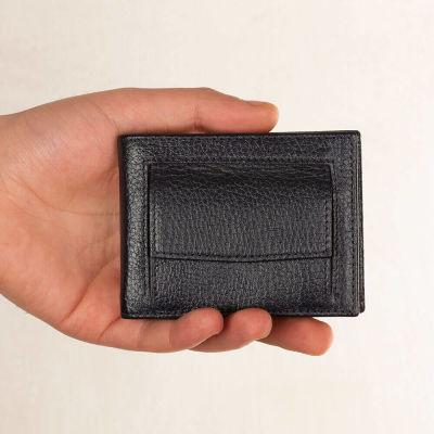 Bozuk Para Bölmeli Para Tokalı Deri Kartlık Lacivert
