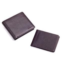 Anı Yüzük - Cangurione Hakiki Deri İçten Kartlıklı Bozuk Para Bölmeli Erkek Cüzdanı Kahverengi