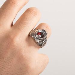 Çift Kartal Başlı Astsubay Yüzüğü - Thumbnail