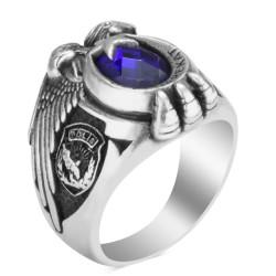 Çift Kartal Başlı Bozkurtlu Polis Özel Harekat Yüzüğü - Thumbnail