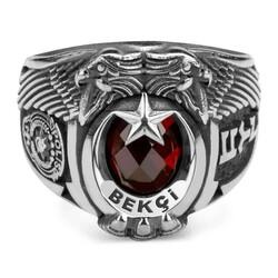 Anı Yüzük - Çift Kartal Başlı Göktürkçe Türk Bekçi Yüzüğü