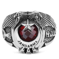 Anı Yüzük - Çift Kartal Başlı Göktürkçe Türk Yazılı Jandarma Yüzüğü