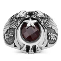 Anı Yüzük - Çift Kartal Başlı 1992 Jandarma Genel Komutanlığı Yüzüğü