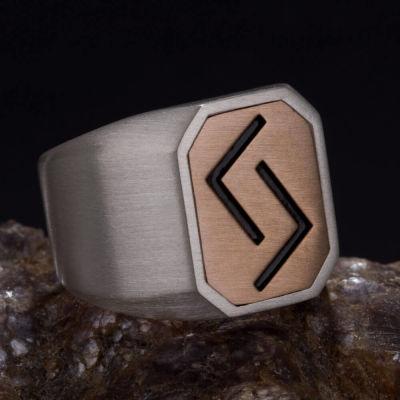 Çift Taraflı Çukur Karakuzular Yüzüğü Gümüş-Bronz