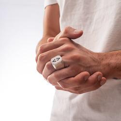 Çift Taraflı Çukur Karakuzular Yüzüğü - Thumbnail