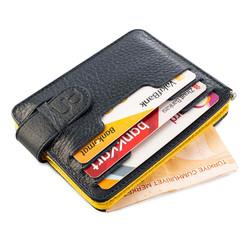 Çift Taraflı Para Tokalı Kartlık Taraftar Cüzdanı Sarı-Lacivert