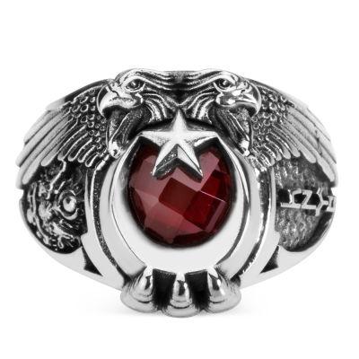 Cihan Hakimiyeti Yüzüğü (Osmanlı Arması - Göktürkçe Türk)