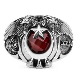 Anı Yüzük - Cihan Hakimiyeti Yüzüğü (Osmanlı Arması - Göktürkçe Türk)