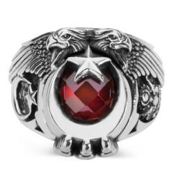 Anı Yüzük - Cihan Hakimiyeti Yüzüğü (Ay Yıldız - Osmanlı Arması)