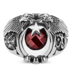 Cihan Hakimiyeti Yüzüğü (Osmanlı Arma - Bozkurt) - Thumbnail