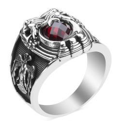 Cihan Hakimiyeti Yüzüğü (Osmanlı Arması- Selçuklu Kartalı) - Thumbnail