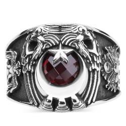 Anı Yüzük - Cihan Hakimiyeti Yüzüğü (Osmanlı Arması- Selçuklu Kartalı)