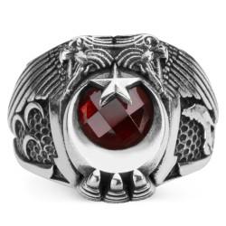 Cihan Hakimiyeti Yüzüğü (Üç Hilal- Bozkurt) - Thumbnail