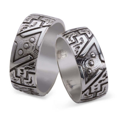 Çukur Dizisi Gümüş Alyans Çifti