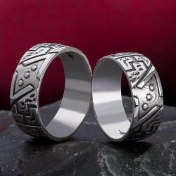 Anı Yüzük - Çukur Dizisi Gümüş Alyans Çifti