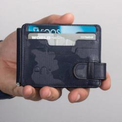 EGM Bekçi Rozetli Para Tokalı Kartlık Cüzdan Kamuflaj Lacivert - Thumbnail