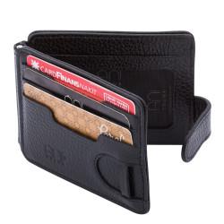 Anı Yüzük - Emniyet Genel Müdürlüğü Polis Rozetli Para Tokalı Kartlık Cüzdan Siyah (1)